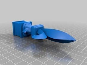 Fleur-dis-lis Finial/w base standing 1/2 PVC