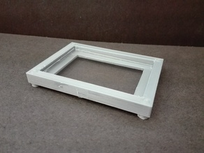 Casting mold for 75x50mm glass slides