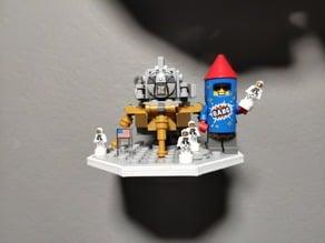 Lego Ideas 21309 NASA Saturn V Moon Lander Moon Ground Wall Hanger