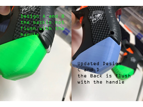 Nerf Stryfe Grip Heel - Two designs - Set A and Set B