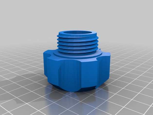 Garden hose cap male by mrtaylor thingiverse for Garden hose cap