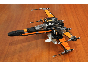 Display stand for LEGO X-Wing 75102