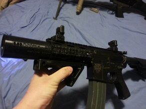 Elite force m4 quadrail with paired suppressor