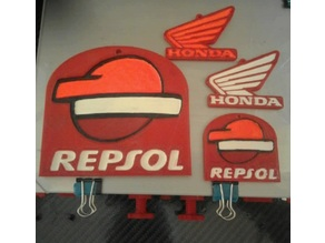 Honda Repsol keychain or scale up for wall art