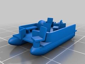 N scale pontoon boat