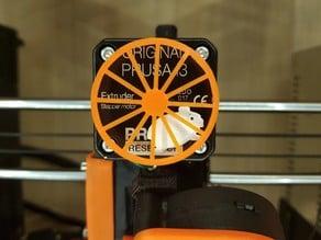 8mm center Hamster-Powered Extruder Visualizer