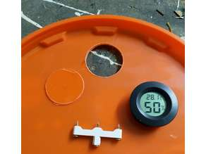 hole saw hygrometer round