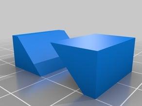Dual Extruder Calibration Block
