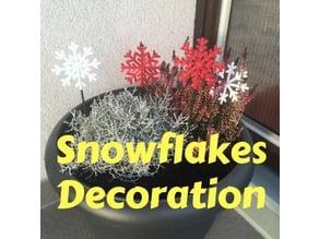 Flowerpot snowflake decoration