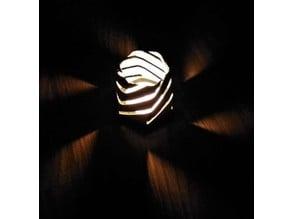 Hexagonal Spiral Candle Holder Tower