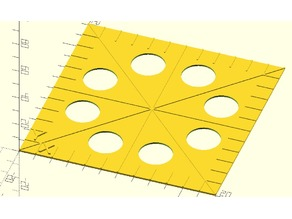 customizable parametric calibration square