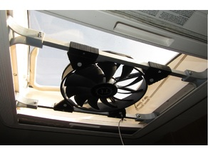 Roof window fan (camper van)