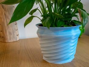 Swirling flower pot