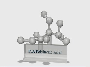 PLA (Polylactic Acid) Molecule/Display