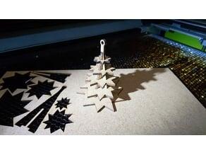 Christmas tree ornament for reel trees