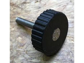 knurled screw head, Rändelschraube das Kopfteil M5, M6, M8 und M10