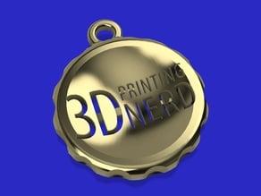 3D Printing Nerd Amulet