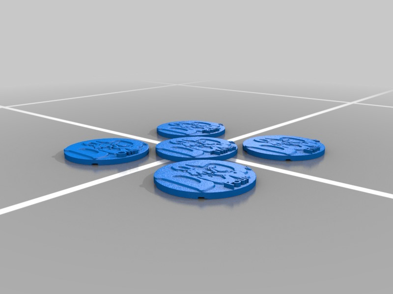 Numbered D&D Player Tokens by GDHPrinter - Thingiverse