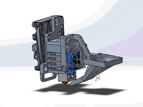 Bowden E3D V6 Carriage (Autolevel/AllInOne)