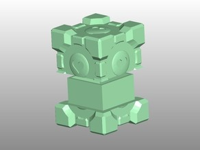 Portal Companion Cube hidden box