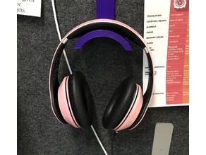 "Headphones hanger for 1"" cubicle wall"