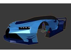 Low-Poly Bugatti Vision Gran Turismo Body