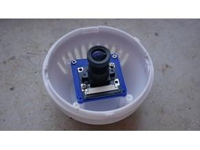 Pi Cam mount for indoor camera housing