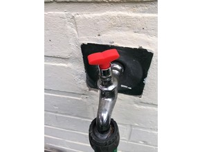 Screw garden faucet handle