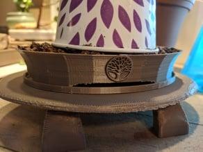 Oval Tree of Life Bonsai Pot
