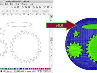 Inkscape to OpenSCAD converter v6