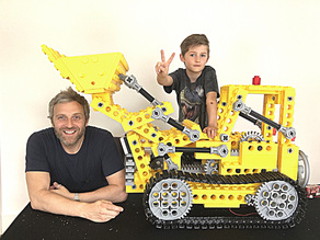 Giant sized Lego Bulldozer kit (856)