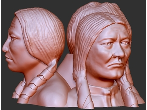 "Indian Chiefs - ""Sitting Bull"" ""Little Hawk"" ""Crazy Horse"""
