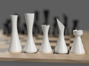 Minimalist contemporary chess set