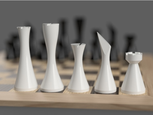 Minimalist Contemporary Chess Set By Link0007 Thingiverse,Home Decorating Programs