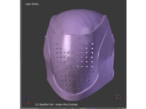Destiny Skullfort Helmet - With and without holes.