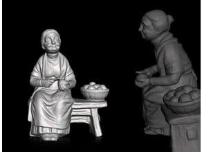statuette grandmother - nonna statuetta -  statuette grand-mère -  abuela estatuilla