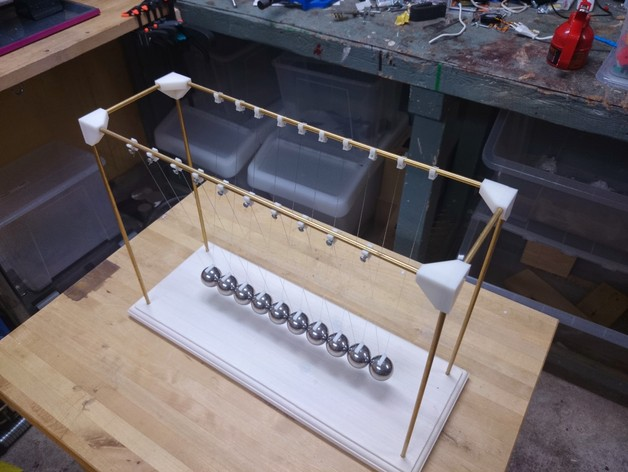 Newtons Cradle 10 Balls By Snille Thingiverse
