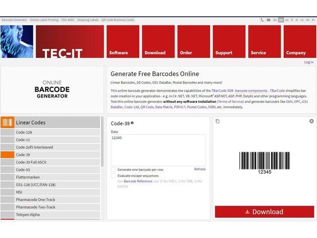Barcode Key Fob by ReallyBigTeeth - Thingiverse