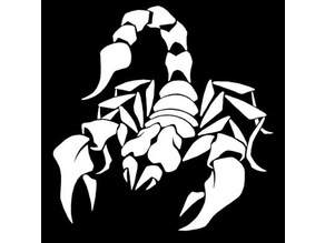Scorpion stencil 3