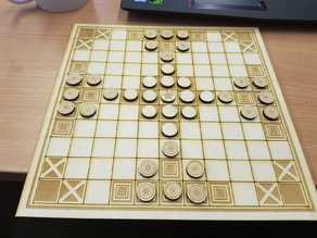 Lasercut hnefatafl board and pieces