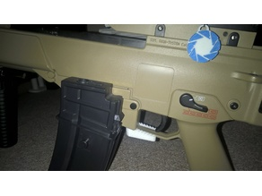 airsoft G36 modified magazine lever/catch