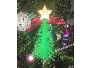 Furry Hexmas Tree (single and dual extrusion)