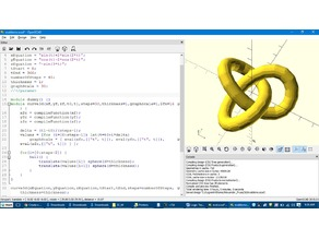 Function parser for OpenSCAD and parametric curve grapher