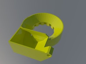 Updated 40 mm Radial Circular Fan stand for Renren (chinese Micro Kossel)