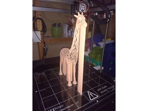 Giraffe Voronoi With Supports - 300mm Tall