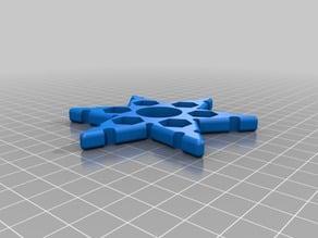 My Customized Ninja Star (Snowflake?) Fidget Spinner