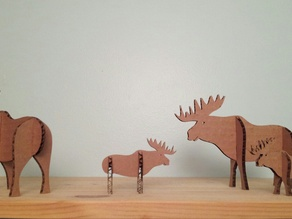Holiday Laser Moose