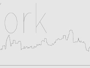New York skyline (pre 2001) for eggbot