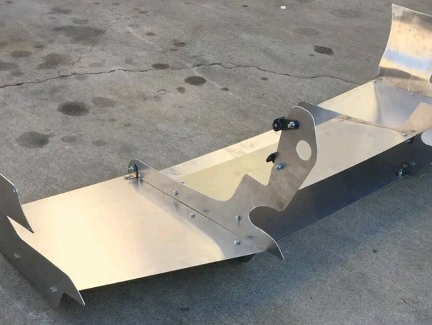 Tuner Car Racing Spoiler (Not 3D Printable) by Syrus54
