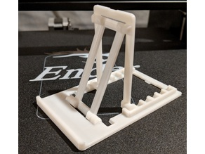 Adjustable Folding Phone Stand - Single piece print, built in hinges
